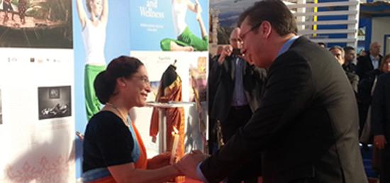 PM of Serbia H.E. Mr. Aleksander Vucic inaugurating Inda Pavillion at the Belgrade International Tourism Fair