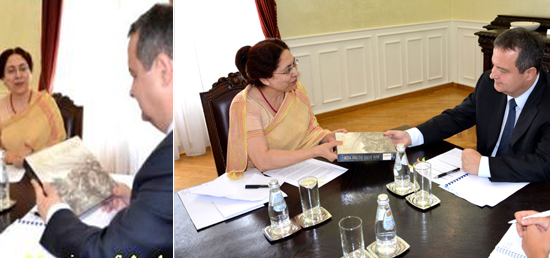Meeting of Ambassador with H.E. Mr. Ivica Dacic, First DPM & FM