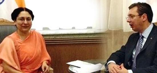 Meeting of H.E Ambassador with H.E. Prime Minister of Serbia Aleksandar Vucic