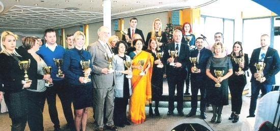 H.E. Ambassador of India awarded with 'Gold Amphora Tourism Award'