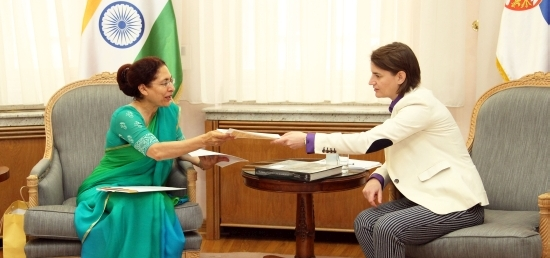 Meeting of Ambassador with H.E. Ms. Ana Brnabic , Prime Minister of the Republic of Serbia