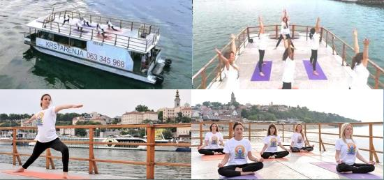 Yoga on the Danube celebrated at Zemun, Belgrade on 21 June 2017