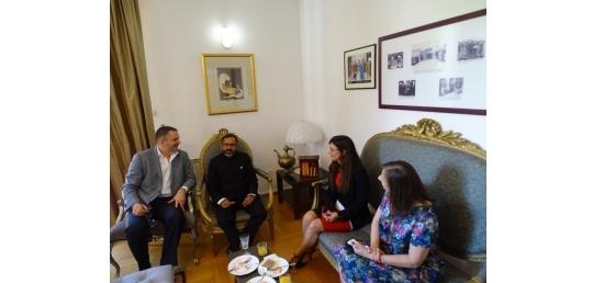 Serbian Ambassador in New Delhi attending the reception at Indian Embassy Belgrade