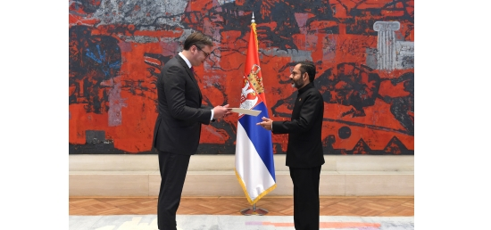 Ambassador has just presented his credentials