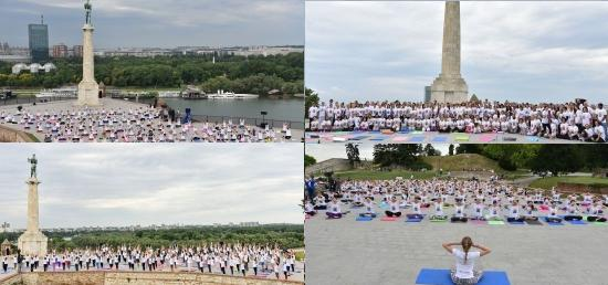 3rd International Day of Yoga (IDY) marked in Serbia