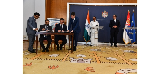 Vice President and Aleksandar Vucic, President of Serbia witness signing of Agreements in Serbia (September 15, 2018)